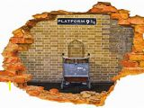 Harry Potter Castle Wall Mural Wall Sticker Harry Potter Platform 9 3 4 Broken Wall Hole In the Wall Smashed Wall 3d Look Wall Decor for Bedroom Living Room Kids Room