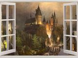 Harry Potter Full Wall Mural Amazon Hogwarts Harry Potter 3d Window View Decal Graphic Wall