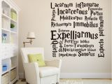 Harry Potter Full Wall Mural Harry Potter Quote Wall Sticker Kids Room Hogwarts Movie Spells Wall