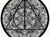 Harry Potter Mandala Coloring Pages Harry Potter Deathly Hallows Inspired Adult Coloring Mandala