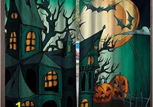 Haunted House Wall Mural Amazon Blountdecor Halloween Window Curtain Haunted