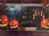 Haunted House Wall Mural Halloween Decor Scary Haunted House Jack O Lantern Wall