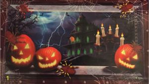 Haunted House Wall Mural Halloween Decor Scary Haunted House Jack O Lantern Wall