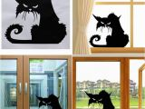 Haunted House Wall Mural Hot Popular Vinyl Removable 3d Wall Stickers Halloween Black