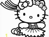 Hawaiian Hello Kitty Coloring Pages Hello Kitty Ballerina Dancer Coloring Page