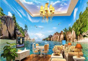 Hawaiian Wall Murals Beibehang Mittelmeer Hawaii Meer Foto Wand Papier Große Wandbild