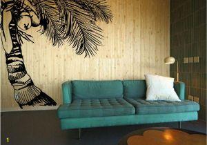 Hawaiian Wall Murals Coco Crazy Tall Tropical Hawaiian Coconut Tree with Fawns