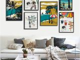 Hawaiian Wall Murals Modern Hawaii Aruba Costa Rica Impressionist Style Canvas Art