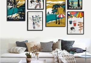 Hawaiian Wall Murals Modern Hawaii Aruba Costa Rica Impressionist Style Canvas Art