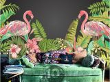 Hawaiian Wall Murals Tropical Flamingo Peel & Stick Wallpaper Hawaii Plant forest