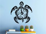 Hawaiian Wall Murals Wall Decal Turtle Animal Stickers Hawaiian Style Bathroom Decor Art