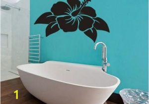 Hawaiian Wall Murals Wall Vinyl Sticker Decals Mural Room Design Pattern Art Hibiscus