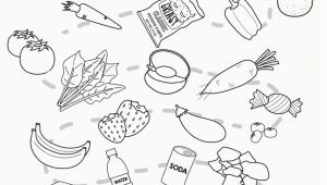 Healthy and Unhealthy Food Coloring Pages Coloring Pages Healthy and Unhealthy Food Coloring