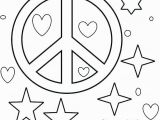 Heart and Peace Sign Coloring Pages Coloring Pages Hearts and Peace Signs at Getcolorings