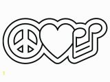 Heart and Peace Sign Coloring Pages Heart Peace Sign Coloring Pages at Getdrawings