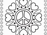 Heart and Peace Sign Coloring Pages Hearts and Peace Signs Coloring Pages Printable