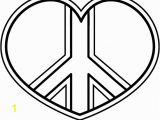 Heart and Peace Sign Coloring Pages Peace Signs Coloring Pages 20 Colorine