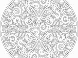 Heart Mandala Coloring Pages Another Swirly Mandala to Print and Color