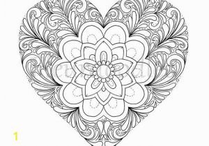 Heart Mandala Coloring Pages Coloring Page Heart Printable Love Colouring