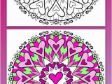 Heart Mandala Coloring Pages Free Mandala Coloring Page with Lots Of Hearts Art by the