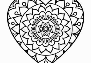 Heart Mandala Coloring Pages Heart Mandala