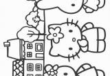 Hello Kitty at the Beach Coloring Pages Hello Kitty Coloring Picture