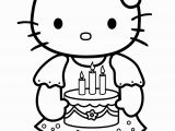 Hello Kitty Baking Coloring Pages Free Hello Kitty Coloring Pages Happy Birthday Download