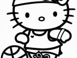 Hello Kitty Basketball Coloring Pages 53 Best Preschool Images