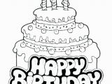 Hello Kitty Birthday Cake Coloring Pages Awesome Coloring Pages Birthday Cake Printable Picolour