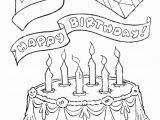 Hello Kitty Birthday Cake Coloring Pages Birthday Cake Coloring Pages for Kids Coloring Home