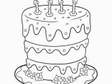 Hello Kitty Birthday Cake Coloring Pages Birthday Cake Coloring Pages Preschool Birthday Cake is A