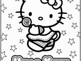 Hello Kitty Birthday Cake Coloring Pages Hello Kitty Coloring Pages to Use for the Cake Transfer or