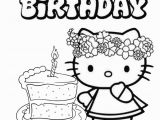 Hello Kitty Birthday Cake Coloring Pages Not to Mention the Result Coloring Pages for Preschoolers