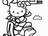 Hello Kitty Coloring Pages Airplane Hello Kitty On A Scooter 567—850