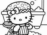 Hello Kitty Coloring Pages Airplane Shower