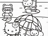 Hello Kitty Coloring Pages at the Beach Hello Kitty
