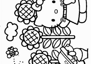 Hello Kitty Coloring Pages Games Hello Kitty Spring Coloring Pages with Images