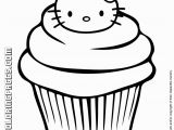Hello Kitty Cupcake Coloring Pages Free Big Hello Kitty Download Free Clip Art