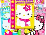 Hello Kitty Giant Coloring Pages Hello Kitty Set Of 3 Jumbo Coloring and Activity Books with Stickers for Kids Girls Boys