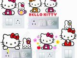 Hello Kitty Giant Wall Mural Decals Creation Hello Kitty Switch Sticker for Girls Set Of 5