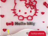 Hello Kitty Giant Wall Mural Details About Cartoon Hello Kitty 3d Diy Kids Room School Wall Stickers Acrylic Pmma Mural
