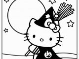 Hello Kitty Happy Halloween Coloring Pages Haloween Hello Kitty Color Page Free