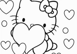 Hello Kitty Heart Coloring Pages Hello Kitty Coloring Pages with Images