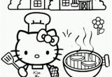Hello Kitty Holiday Coloring Pages Hello Kitty Bbq Coloring Page