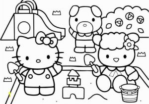 Hello Kitty House Coloring Pages Hello Kitty at the Playground Coloring Page Dengan Gambar
