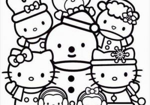 Hello Kitty House Coloring Pages Hello Kitty Coloring Page Christmas with Friends with