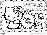 Hello Kitty I Love You Coloring Pages for Kids who Love Sanrio Celebrating Valentine by