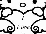 Hello Kitty I Love You Coloring Pages Hd I Love You This Much Coloring Pages Image Free