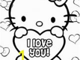 Hello Kitty I Love You Coloring Pages Hello Kitty Valentines Coloring Pages — Printable Treats