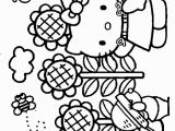 Hello Kitty Kitchen Coloring Pages Hello Kitty Spring Coloring Pages with Images